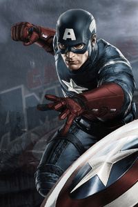 640x960 Captain America 4k Artworks