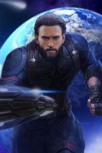 1080x2280 Captain America 4k Avengers Infinity War