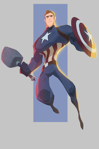 Captain America 4k Minimal Art