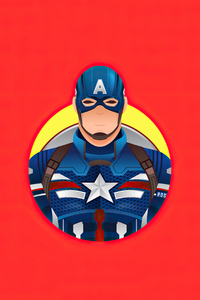 480x800 Captain America 4k Minimalism 2020