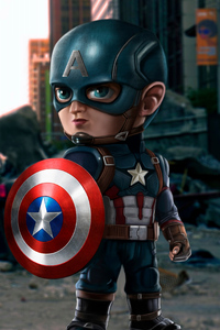 640x960 Captain America 4k New