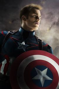 800x1280 Captain America 5k Art