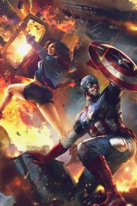 Captain America And America Chavez Evo 2