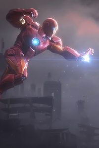 320x480 Captain America And Iron Man 4k New