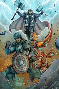 320x568 Captain America And Iron Man Fan Made