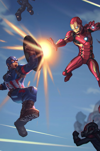2160x3840 Captain America And Ironman