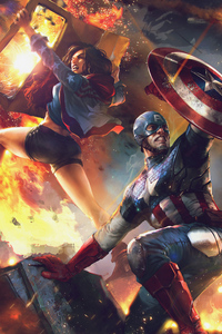 Captain America And Miss America