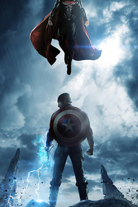 1080x1920 Captain America And Superman