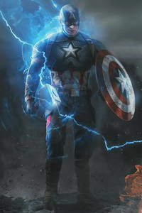 1125x2436 Captain America Angry