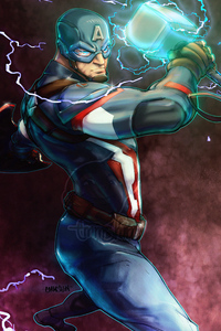 320x568 Captain America Art Hammer