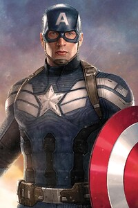 1440x2560 Captain America Artwork