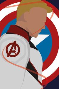 1242x2688 Captain America Avenger Minimal
