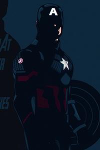 1280x2120 Captain America Avengers Edgame Minimal 5k