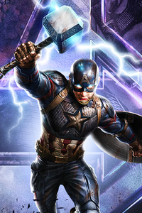 1080x2280 Captain America Avengers Endgame 2020