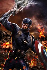 1080x1920 Captain America Avengers Endgame Mjolnir
