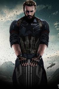 1125x2436 Captain America Avengers Infinity War 2018
