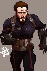 Captain America Avengers Infinity War Artwork