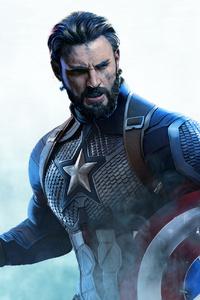 1080x2280 Captain America Beard Art