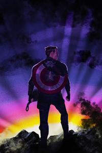 1125x2436 Captain America Broken Shield Thor Hammer