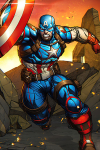 540x960 Captain America Cartoon Art