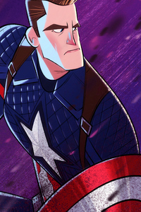Captain America Cartoonic Art 4k