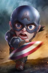 1242x2688 Captain America Chibi