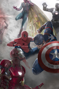 1125x2436 Captain America Civil War 4k 2020
