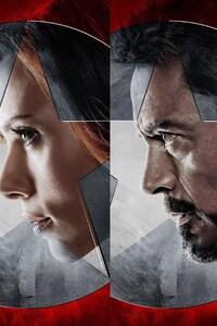640x1136 Captain America Civil War Marvel
