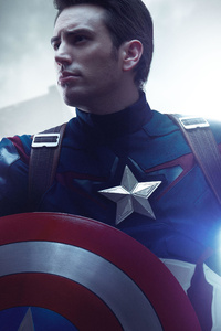 640x960 Captain America Cosplay 5k