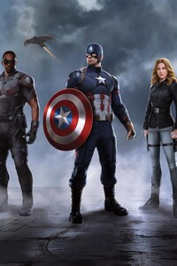 1125x2436 Captain America Crew In Captain America Civil War