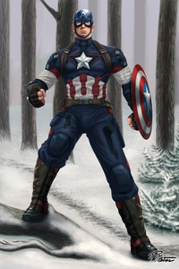 720x1280 Captain America Digital Artwork