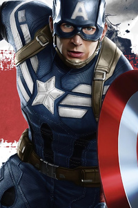 320x480 Captain America Disney