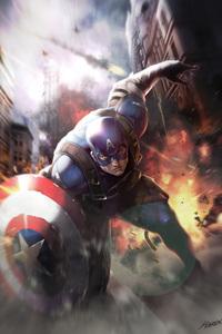 1440x2960 Captain America Fan Artwork