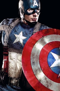 320x568 Captain America First Avenger 4k