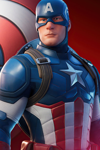 720x1280 Captain America Fortnite 2020