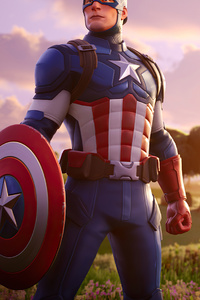 1125x2436 Captain America Fortnite 4k