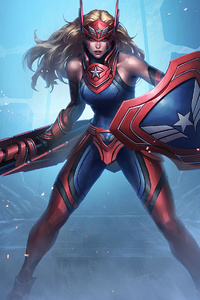 1280x2120 Captain America Girl Marvel Contest Of Champions