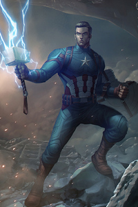 1125x2436 Captain America Hammer And Shield
