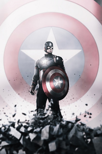 1125x2436 Captain America Hero 4k