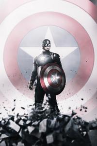 320x480 Captain America Hero 4k