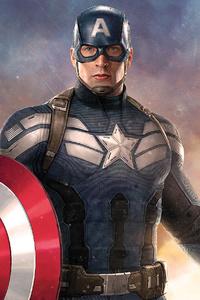 Captain America Holding Shield
