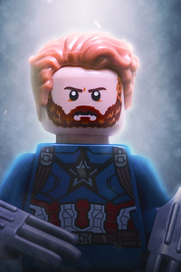 1080x2280 Captain America Hot Toy For Avengers Infinity War