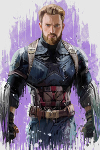 Captain America In Avengers Infinity War 2018 Artwork