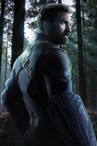 Captain America In Avengers Infinity War 2018 Fan Artwork