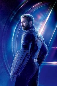 Captain America In Avengers Infinity War 8k Poster