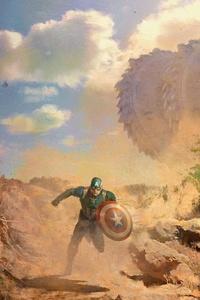 Captain America In Avengers Infinity War Concept Art