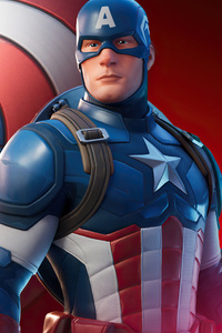 240x320 Captain America In Fortnite