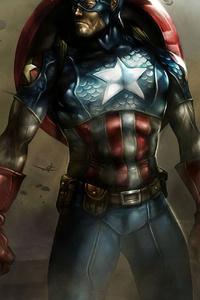 1125x2436 Captain America In Warzone