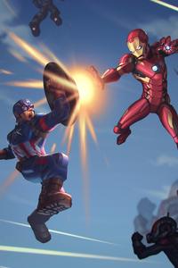 640x1136 Captain America Iron Man 4k