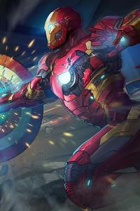 Captain America Iron Man 4k Art